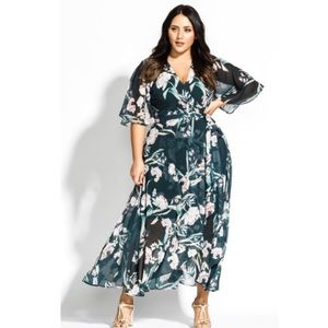 NEW City Chic Fresh Fields Maxi Wrap Dress